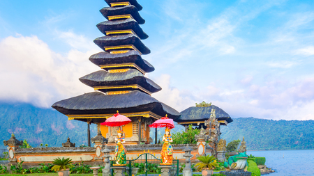 danu: Pura Ulun Danu Batur is a temple in Bali situated on lake Beratan high up in the