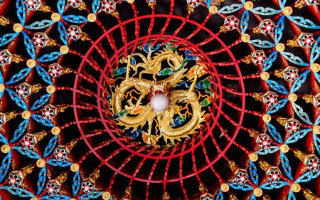 Ceiling of a buddhist monestry in Bali