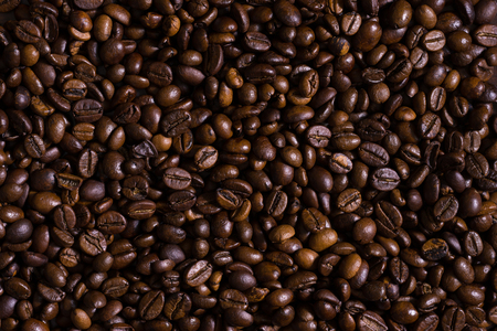 Roasted coffee beans background 版權商用圖片