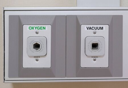 oxygen and vacuum port in hospital