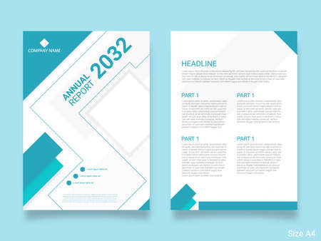 Business annual report template cover Ilustración de vector