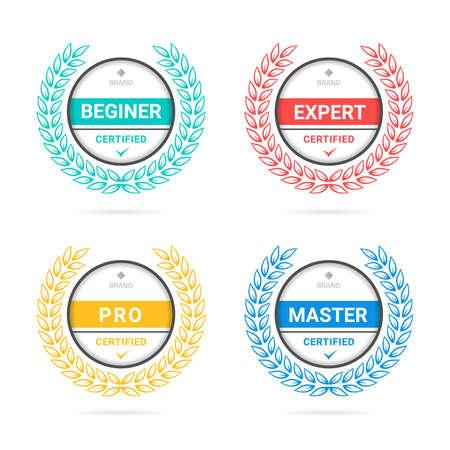 Certified criteria badge logo template