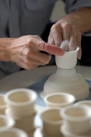 Portrait shot of pots