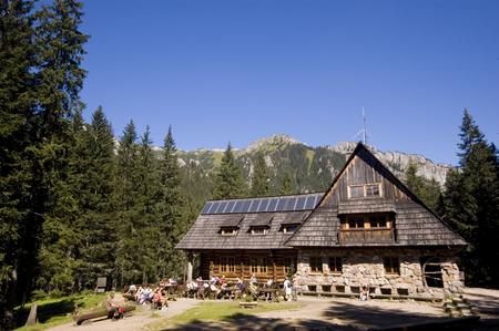 Traditional mountain hostel in Polish Tatra mountains (region of Ornak) Фото со стока