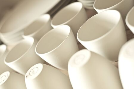 Clay cups - detail