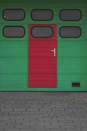 entranceway: Garage entrance Stock Photo