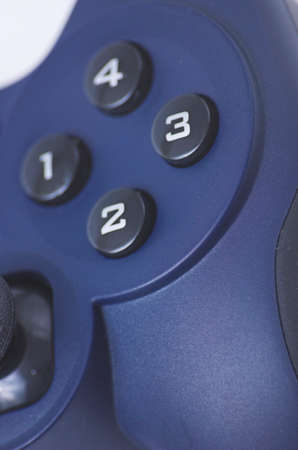 joypad: Blue computer joypad, gaming equipment