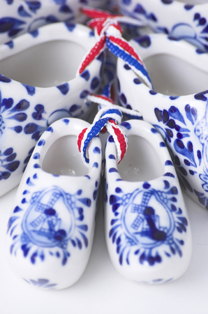 minature: Set of Dutch porcelain clogs, traditional souvenir from Holland