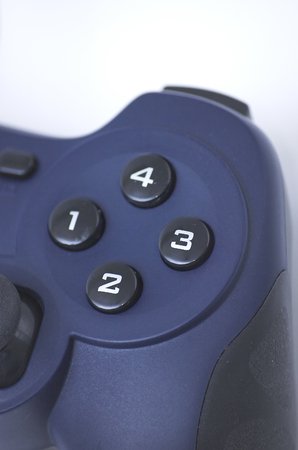 gaming: Blue computer joypad, gaming equipment