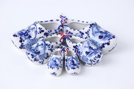 souvenir traditional: Set of Dutch porcelain clogs, traditional souvenir from Holland