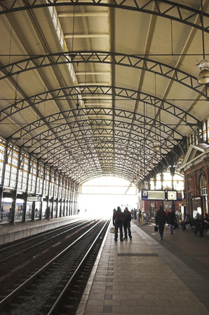 spoor: Railway station Holland Spoor in The Hague in neo renaissance style Stock Photo