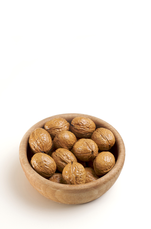 full filled: Walnuts in a bowl Stock Photo