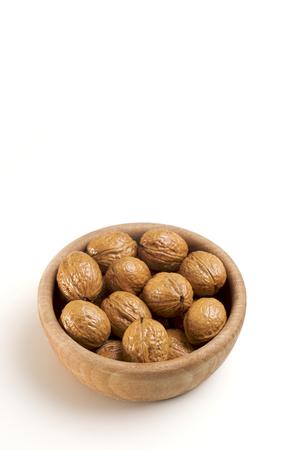 Walnuts in a bowl Фото со стока