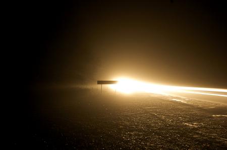 back road at night