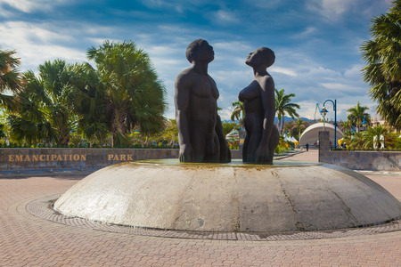 kingston: emancipation monument Jamaica Editorial