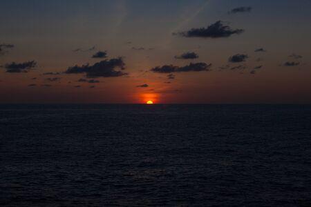 sunset sea Stock Photo