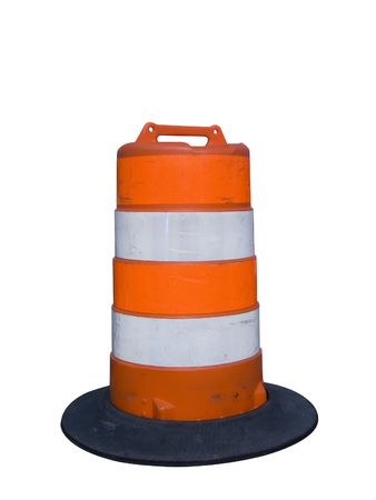 barrier: Isolated construction barrier Stock Photo
