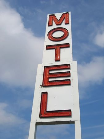 nifty: motel sign Stock Photo