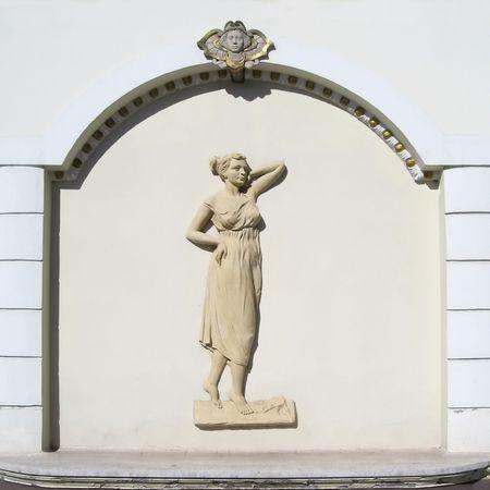 fresco van een vrouw