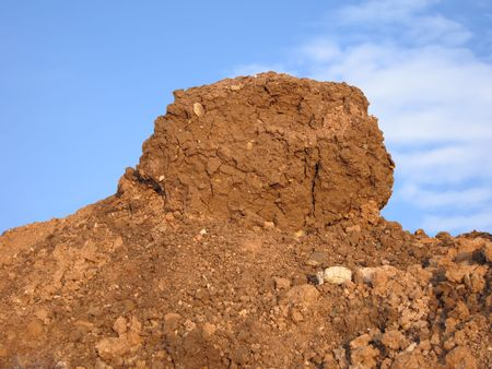 Large pile of dirt Stock Photo