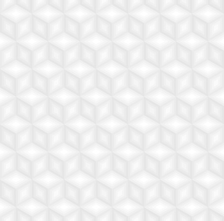 White cubes pattern background vector.