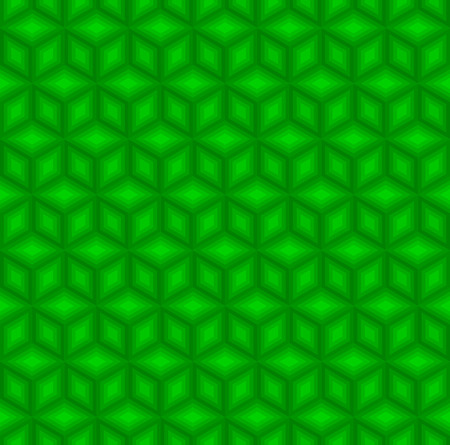 Green cubes pattern background vector.