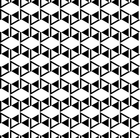 Black and white cubes pattern background vector.