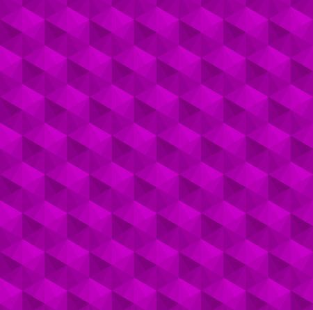Purple cubes pattern background vector. Çizim