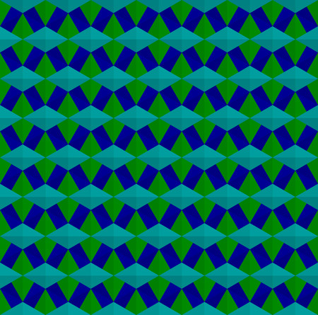 Blue and green cubes pattern background vector.