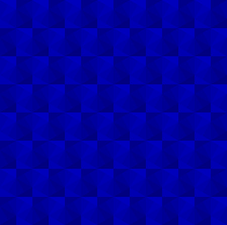 Blue cubes pattern background vector.