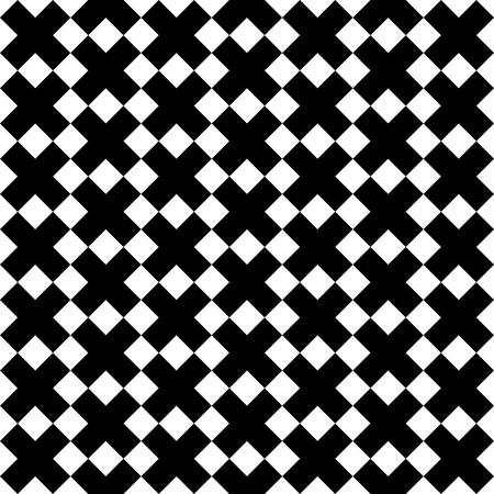 Black X symbol pattern on white background vector.