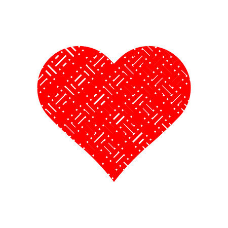 Abstract pattern in red heart symbol vector. Ilustracja
