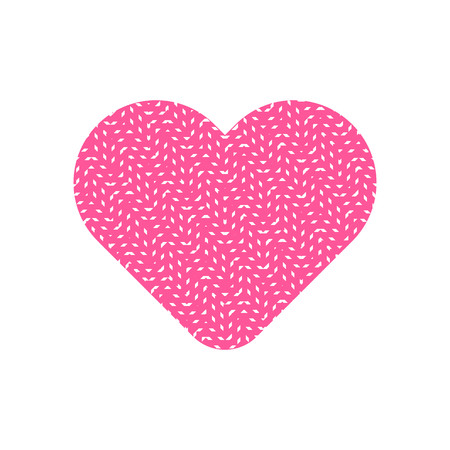 Abstract pattern in pink heart symbol vector.