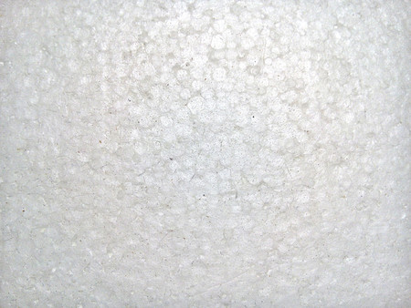 Top view of white polystyrene foam board texture background.