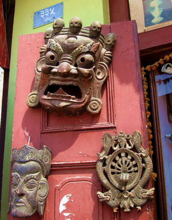 Tibetan Buddhist Deity Masks Kathmandu Nepal