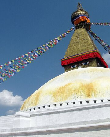 Great Stupa of Boudhanath Kathmandu Nepal Stock Photo