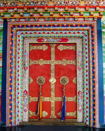 Door of Tibetan Buddhist Monastery