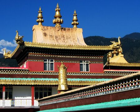 Roof of Tibetan Buddhist Monastery