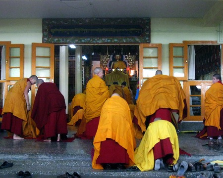 Tibetan Buddhist Nuns Religious Ritual Editorial
