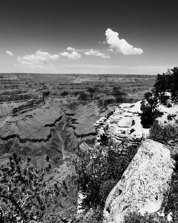 Grand Canyon National Park Arizona Monochrome Stock Photo