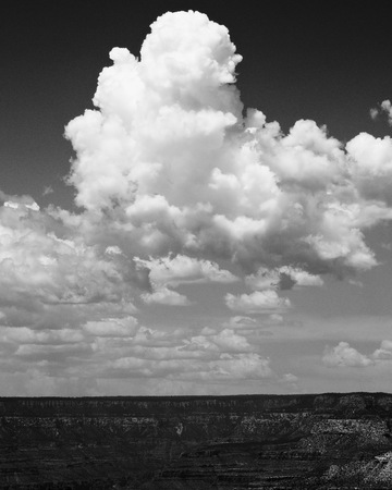 Towering Cumulus Clouds Stock Photo