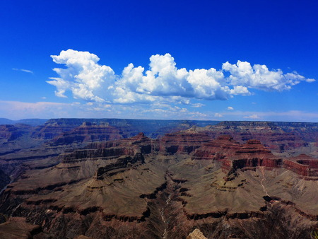 Southwestern Monsoon Season Clouds Grand Canyon