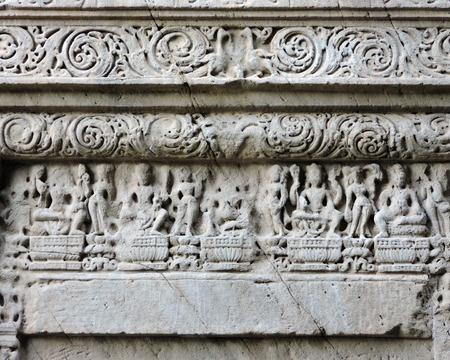 India Temple Architecture Stone Carvings Stock Photo - 50491676