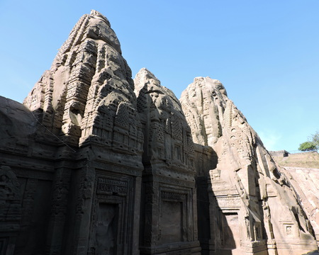 India Architecture Masroor Rock Cut Temple