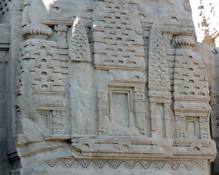 Stone Carving India Hindu Temple Stock Photo