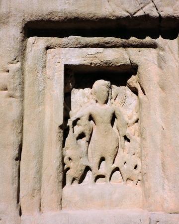 India Architecture Ancient Deity Figures Stock Photo