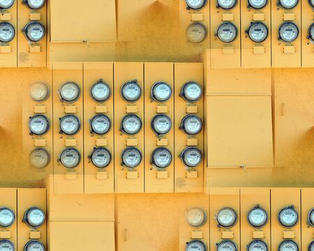 Electric Meter Wall Seamless Repeating Pattern Stock Photo - 54780768