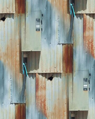 Rusted Metallic Siding Seamless Repeating Pattern
