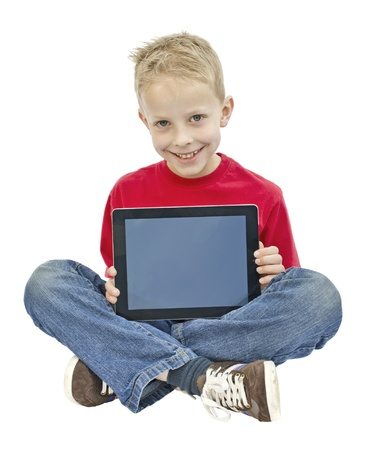 Child on tablet pc Stock Photo - 17789176