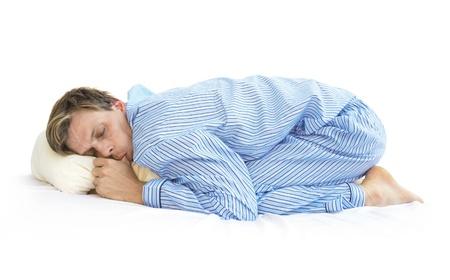 Slapen als een baby Stockfoto